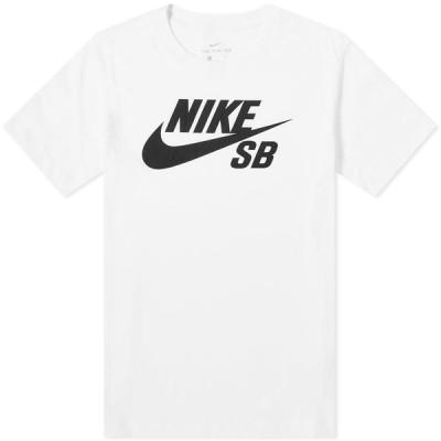 ナイキ Nike SB メンズ Tシャツ ドライフィット ロゴTシャツ トップス Dri-Fit Logo Tee White/Black