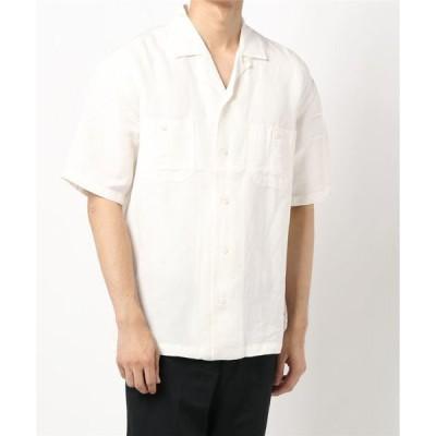 シャツ ブラウス 【BACK NUMBER】オープンカラーワークシャツ