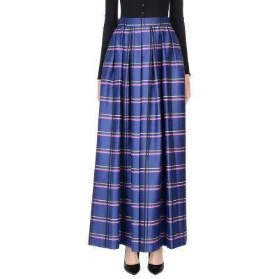 ULTRA'CHIC ロングスカート ブルー 40 ウール 37% / アクリル 37% / ポリエステル 26% ロングスカート