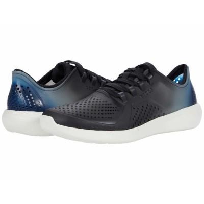 クロックス スニーカー シューズ レディース LiteRide Color Dip Pacer Black/Light Grey/Vivid Blue