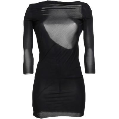 RICK OWENS LILIES ミニワンピース&ドレス ブラック 40 キュプラ 83% / ポリウレタン 17% ミニワンピース&ドレス