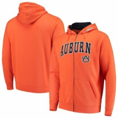 Colosseum コロセウム スポーツ用品  Colosseum Auburn Tigers Orange Arch & Logo Full-Zip Hoodie