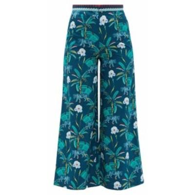 レ シレヌーセ ポジターノ Le Sirenuse. Positano レディース クロップド ボトムス・パンツ Natalie cropped printed-cotton trousers Na