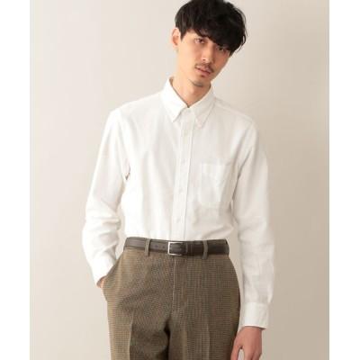 MACKINTOSH PHILOSOPHY(MENS)/マッキントッシュ フィロソフィー メンズ シャンブレーフランネル ブリティッシュB.Dシャツ ホワイト1 38