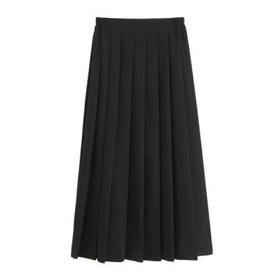 ウールスカート プリーツ プリーツスカート ロング丈 長め丈 スカート 上品 フェミニン ゆったり ルーズ 大きいサイズ おしゃれ 人気 トレンド 春秋冬