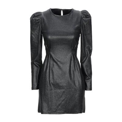 VANESSA SCOTT ミニワンピース&ドレス 鉛色 L レーヨン 75% / ナイロン 21% / ポリウレタン 4% ミニワンピース&ドレス
