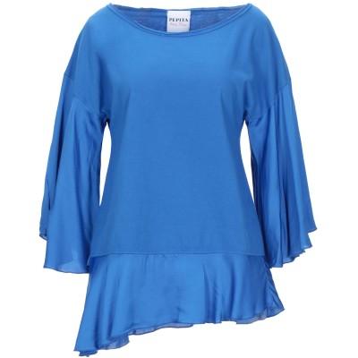 PEPITA T シャツ ブライトブルー 48 コットン 100% / レーヨン / レーヨン T シャツ