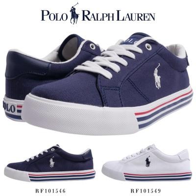 【送料無料】ポロ ラルフローレン POLO Ralph Lauren ラルフ スニーカー 靴 シンプル おしゃれ ホワイト 白 ネイビー ポニー刺繍 シューズ rf101546-101549
