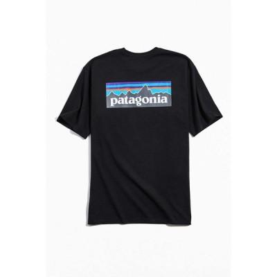 パタゴニア Patagonia メンズ Tシャツ ロゴTシャツ トップス P-6 Logo Responsibili Tee Black
