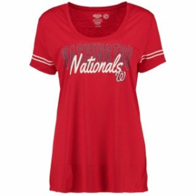 Concepts Sport コンセプト スポーツ 寝間着  Concepts Sport Washington Nationals Womens Red Tradition Short Sleeve T-Shirt