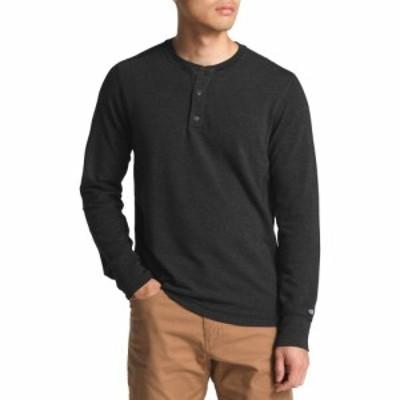 ザ ノースフェイス The North Face メンズ 長袖Tシャツ ヘンリーシャツ トップス TNF Terry Long Sleeve Henley Shirt TNF Dark Grey Hea