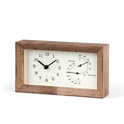 置き掛け可能 ナチュラルテイストな木製温湿度計 FRAME(レムノス)