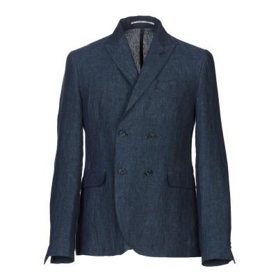 EXIBIT テーラードジャケット ブルー 48 麻 100% テーラードジャケット