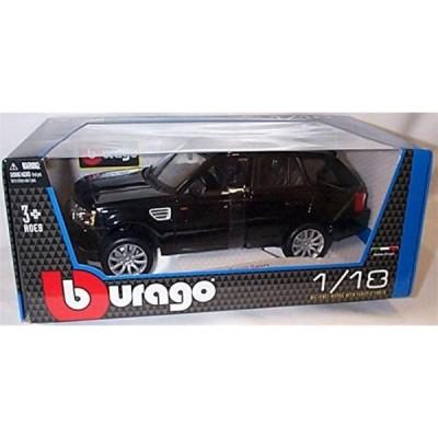 レンジローバー ミニカー burago black range rover sport car 1.18 scale diecast model by burago 輸入品
