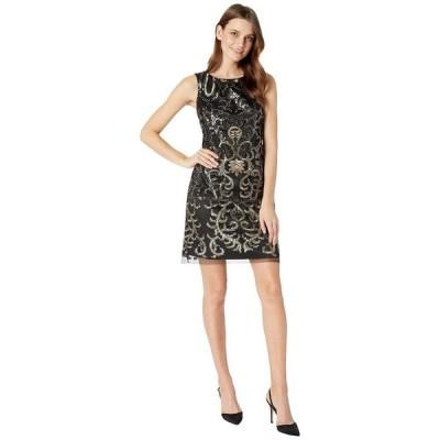 ヴィンスカムート レディース ワンピース トップス Sleeveless Sequins Sheath Dress