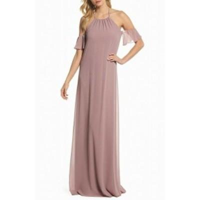 Amsale アムサーラ ファッション ドレス Nouvelle Amsale NEW Pink Womens Size Medium M Chiffon Maxi Dress