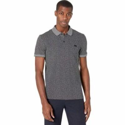 ラコステ Lacoste メンズ ポロシャツ 半袖 トップス Tailored Slim Short Sleeve All Over Print Connect Dots Polo Flour/Abysm