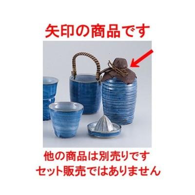 酒器 和食器 / 灰釉ゴス焼酎徳利4号 寸法:9.8 x 19cm ・ 830cc