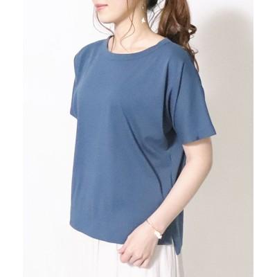 (COMME CA ISM/コムサイズムレディス)フレンチスリーブ Tシャツ/レディース ターコイズ