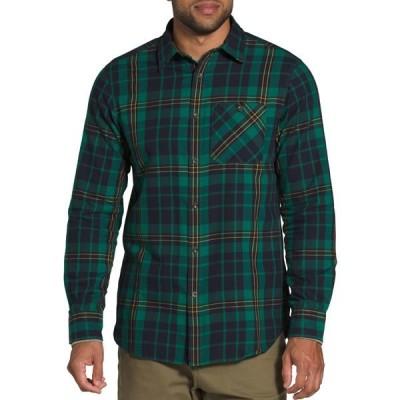 ノースフェイス シャツ トップス メンズ The North Face Men's Hayden Pass 2.0 Long Sleeve Shirt EvergreenHrtgMdmThrClrPld