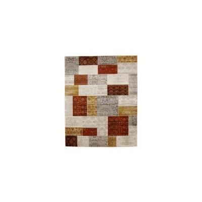 トルコ製 ウィルトン織 ラグ カーペット 『キエフ RUG』 オレンジ 約80×140cm 2333859