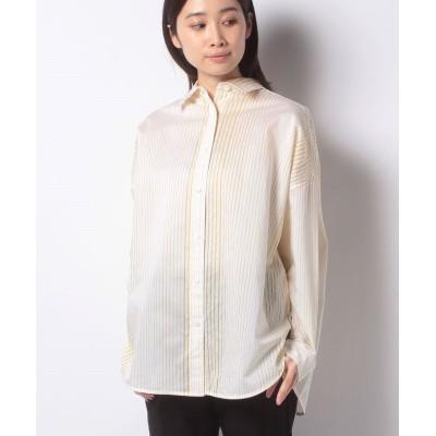 【アバン】 ストライプBIGシャツ レディース イエロー 9 AVANT