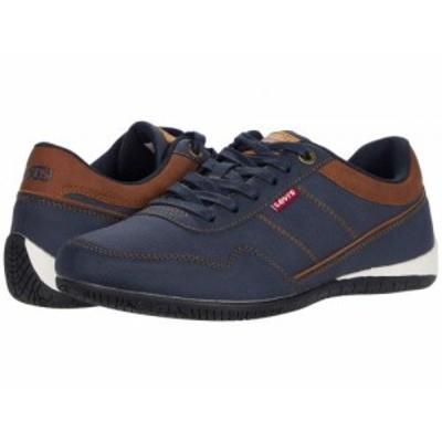 Levis(R) Shoes リーバイス メンズ 男性用 シューズ 靴 スニーカー 運動靴 Rio 3 Tumbled Wax Navy/Tan【送料無料】