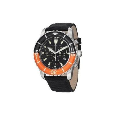 ストゥーリングオリジナル 腕時計 Stuhrling Original 3268 01 メンズ Felucca Date クロノグラフ ブラック and オレンジ 腕時計