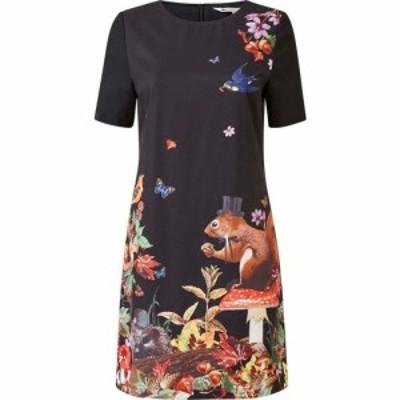 ユミ Yumi レディース ワンピース チュニックドレス ワンピース・ドレス Black Placement Squirrel Tunic Dress Black