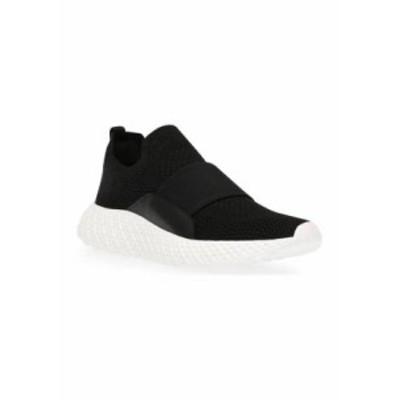 スティーブ マデン レディース スニーカー シューズ Ritz Knit Slip On Sneakers BLACK