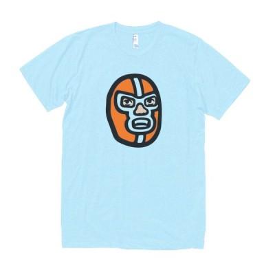 マスクレスラー デザイン・アート Tシャツ 水色