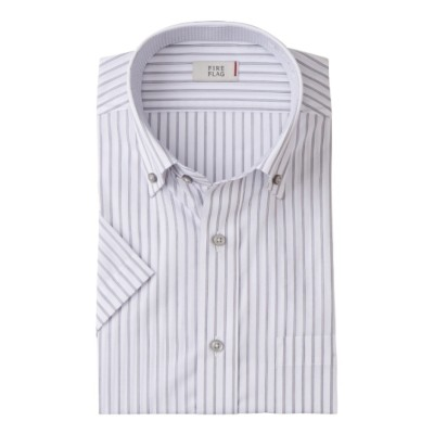 形態安定半袖ワイシャツ(ボタンダウン)(標準シルエット) (ワイシャツ)Shirts, テレワーク, 在宅, リモート