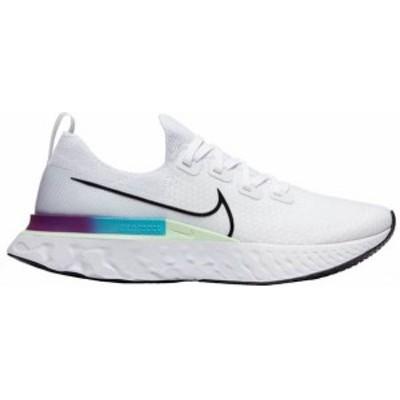 ナイキ メンズ スニーカー シューズ Nike Men's React Infinity Run Flyknit Running Shoes White/Black/Green