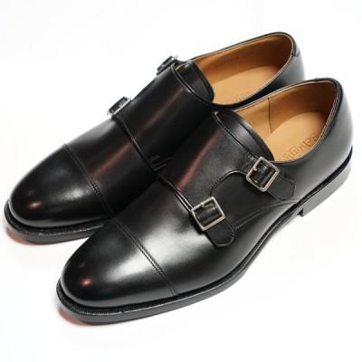 日本製グッドイヤーウエルト紳士靴 ショーンハイト ダブルモンク(SH111-7)ラバー底 黒