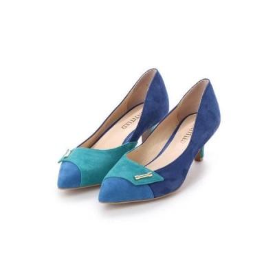 アンタイトル シューズ UNTITLED shoes コンビカラーパンプス (ブルースエードコンビ)