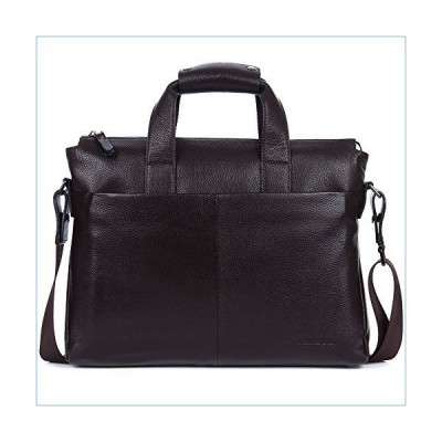 DANJUE Leather Men's Briefcase Laptop Handbag Shoulder Messenger Business Bags Small Brown並行輸入品