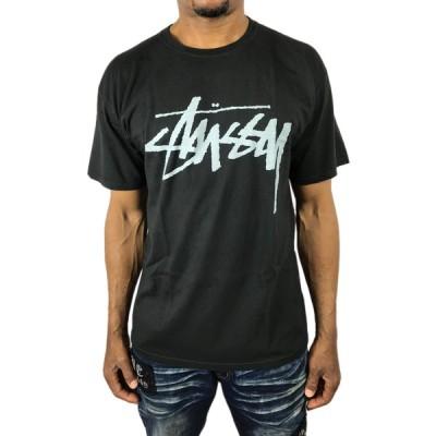 ステューシー Tシャツ STOCK PIG.DYED ストックロゴ ナチュラル 黒 ブラック メンズ 春夏 半袖 ストリート stussy●tsa493