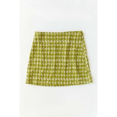 アーバンアウトフィッターズ Urban Outfitters レディース ミニスカート スカート uo candi jacquard mini skirt Green Multi