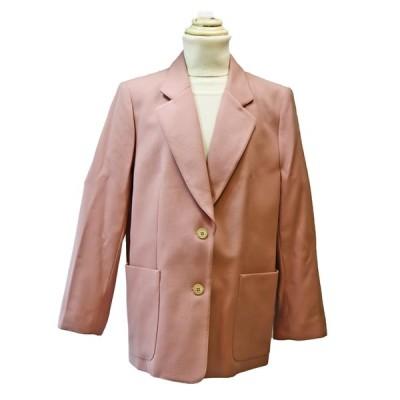昭和レトロ ウールジャケット 秋冬 ピンク バスト104 21号  レナウンルック・AGASA   レディースファッション 60年代70年代 わけあり