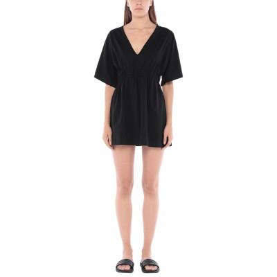 モスキーノ MOSCHINO ビーチドレス ブラック XL コットン 92% / ポリウレタン 8% ビーチドレス