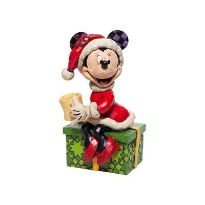 エネスコ Enesco 置物 インテリア 6007069 Enesco Jim Shore Disney Traditions Santa Minnie Mouse with