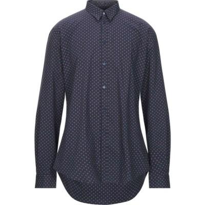 ガウディ GAUDI メンズ シャツ トップス patterned shirt Dark blue