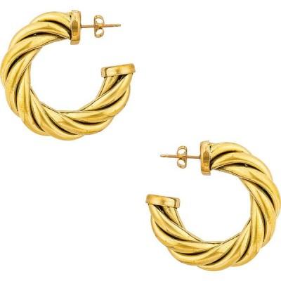 ローラロンバルディ LAURA LOMBARDI レディース イヤリング・ピアス ジュエリー・アクセサリー spira hoop earrings Gold