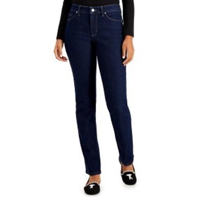 チャータークラブ レディース デニムパンツ ボトムス Lexington Tummy-Control Straight-Leg Jeans, Created for Macy's Rivera Wash