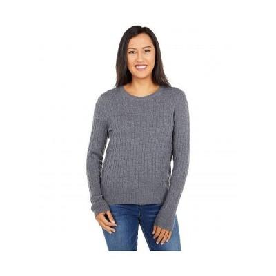 Pendleton ペンドルトン レディース 女性用 ファッション セーター Merino Cable Pullover - Grey Heather