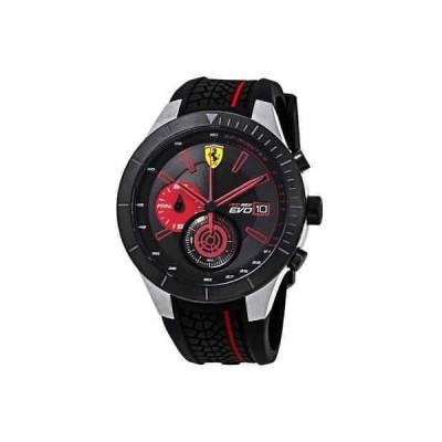腕時計 フェラーリ メンズ Ferrari Red Rev Evo Chronograph Black Dial Men's Watch 0830341
