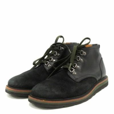 【中古】ティンバーランド Timberland ABINGTON  ブーツ レザー スエード 26cm  黒 ブラック /AK17 メンズ