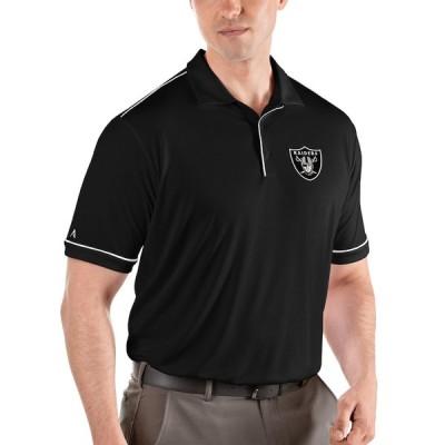 """メンズ ポロシャツ """"Las Vegas Raiders"""" Antigua Salute Polo - Black/White"""