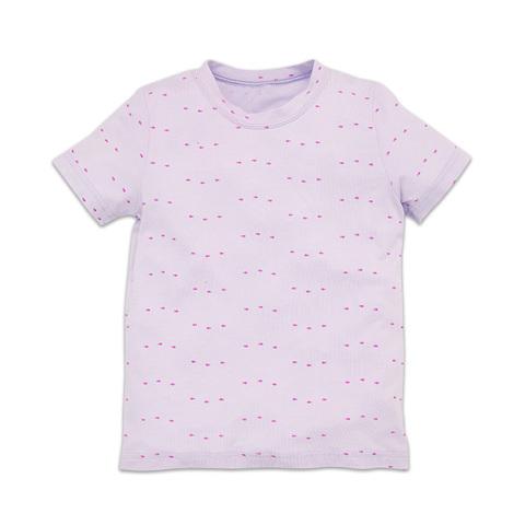麗嬰房 幼童冰牛奶印花短袖上衣-紫色 (2號/3號/4號/6號/8號/10號)