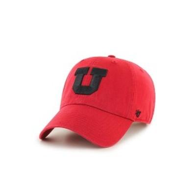 47ブランド レディース 帽子 アクセサリー Utah Utes CLEAN UP Cap Red